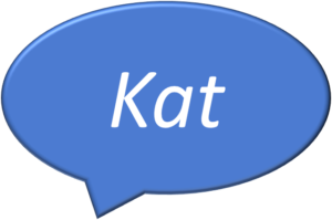 Kat in a speech bubble