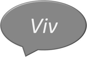 Viv in a speech bubble